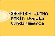 CORREDOR JUANA MARÍA Bogotá Cundinamarca