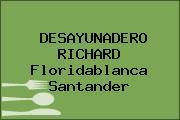 DESAYUNADERO RICHARD Floridablanca Santander
