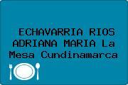 ECHAVARRIA RIOS ADRIANA MARIA La Mesa Cundinamarca