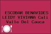 ESCOBAR BENAVIDES LEIDY VIVIANA Cali Valle Del Cauca