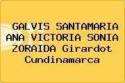 GALVIS SANTAMARIA ANA VICTORIA SONIA ZORAIDA Girardot Cundinamarca