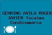 GEHRING AVILA ROGER JAVIER Tocaima Cundinamarca