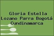Gloria Estella Lozano Parra Bogotá Cundinamarca