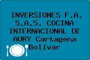 INVERSIONES F.A. S.A.S. COCINA INTERNACIONAL DE AURY Cartagena Bolívar