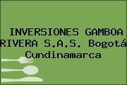 INVERSIONES GAMBOA RIVERA S.A.S. Bogotá Cundinamarca