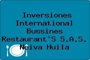 Inversiones International Bussines Restaurant`S S.A.S. Neiva Huila