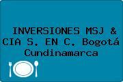 INVERSIONES MSJ & CIA S. EN C. Bogotá Cundinamarca