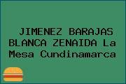 JIMENEZ BARAJAS BLANCA ZENAIDA La Mesa Cundinamarca