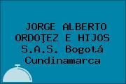 JORGE ALBERTO ORDOÞEZ E HIJOS S.A.S. Bogotá Cundinamarca