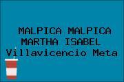 MALPICA MALPICA MARTHA ISABEL Villavicencio Meta