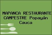 MAPANCA RESTAURANTE CAMPESTRE Popayán Cauca