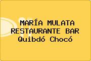 MARÍA MULATA RESTAURANTE BAR Quibdó Chocó