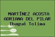 MARTÍNEZ ACOSTA ADRIANA DEL PILAR Ibagué Tolima