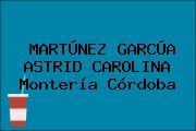 MARTÚNEZ GARCÚA ASTRID CAROLINA Montería Córdoba