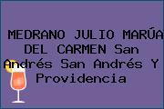 MEDRANO JULIO MARÚA DEL CARMEN San Andrés San Andrés Y Providencia