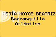 MEJÍA HOYOS BEATRIZ Barranquilla Atlántico