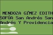 MENDOZA GµMEZ EDITH SOFÚA San Andrés San Andrés Y Providencia