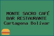 MONTE SACRO CAFÉ BAR RESTAURANTE Cartagena Bolívar