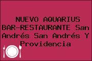 NUEVO AQUARIUS BAR-RESTAURANTE San Andrés San Andrés Y Providencia