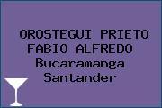 OROSTEGUI PRIETO FABIO ALFREDO Bucaramanga Santander
