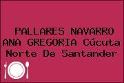 PALLARES NAVARRO ANA GREGORIA Cúcuta Norte De Santander