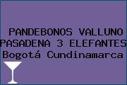 PANDEBONOS VALLUNO PASADENA 3 ELEFANTES Bogotá Cundinamarca