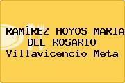 RAMÍREZ HOYOS MARIA DEL ROSARIO Villavicencio Meta
