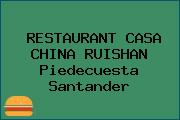RESTAURANT CASA CHINA RUISHAN Piedecuesta Santander
