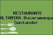 RESTAURANTE ALTAMIRA Bucaramanga Santander