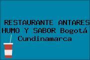 RESTAURANTE ANTARES HUMO Y SABOR Bogotá Cundinamarca