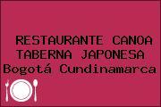 RESTAURANTE CANOA TABERNA JAPONESA Bogotá Cundinamarca