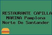 RESTAURANTE CAPILLA MARINA Pamplona Norte De Santander