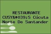 RESTAURANTE CUSY'S Cúcuta Norte De Santander