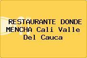 RESTAURANTE DONDE MENCHA Cali Valle Del Cauca