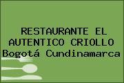 RESTAURANTE EL AUTENTICO CRIOLLO Bogotá Cundinamarca