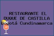 RESTAURANTE EL DUQUE DE CASTILLA Bogotá Cundinamarca
