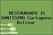 RESTAURANTE EL SANTISIMO Cartagena Bolívar