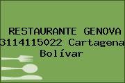 RESTAURANTE GENOVA 3114115022 Cartagena Bolívar
