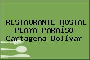 RESTAURANTE HOSTAL PLAYA PARAÍSO Cartagena Bolívar
