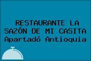 RESTAURANTE LA SAZÓN DE MI CASITA Apartadó Antioquia
