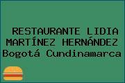 RESTAURANTE LIDIA MARTÍNEZ HERNÁNDEZ Bogotá Cundinamarca