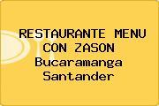 RESTAURANTE MENU CON ZASON Bucaramanga Santander