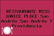 RESTAURANTE MISS JANICE PLACE San Andrés San Andrés Y Providencia