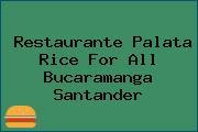 Restaurante Palata Rice For All Bucaramanga Santander