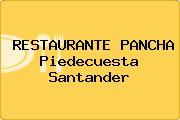 RESTAURANTE PANCHA Piedecuesta Santander