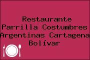 Restaurante Parrilla Costumbres Argentinas Cartagena Bolívar