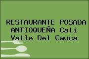 RESTAURANTE POSADA ANTIOQUEÑA Cali Valle Del Cauca