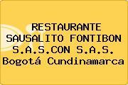 RESTAURANTE SAUSALITO FONTIBON S.A.S.CON S.A.S. Bogotá Cundinamarca