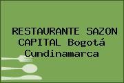 RESTAURANTE SAZON CAPITAL Bogotá Cundinamarca