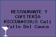 RESTAURANTE Y CAFETERÍA RICCU'S Cali Valle Del Cauca